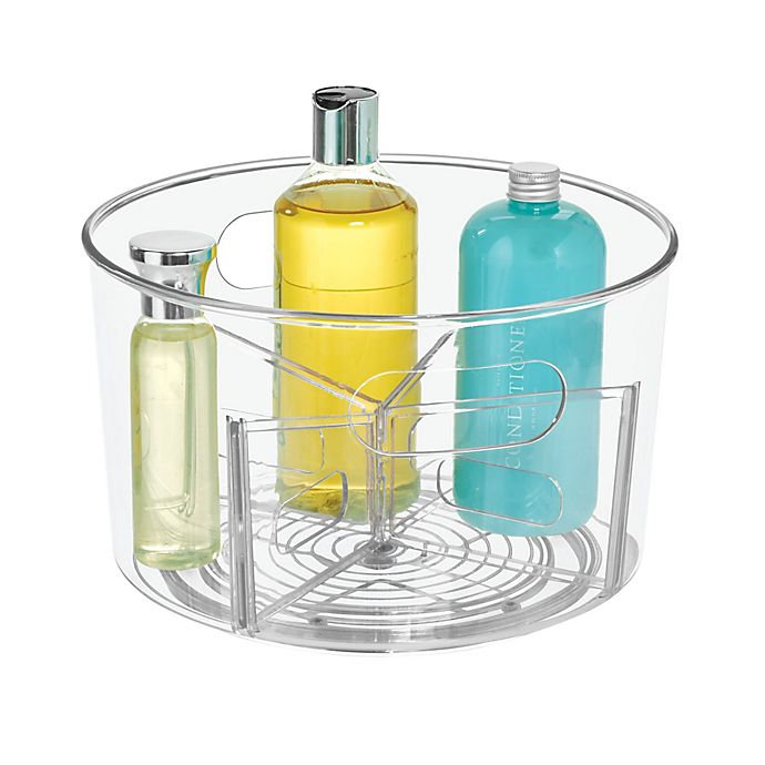 Alternate image 1 for iDesign™ Clear Undersink Customizable Spinner Caddy
