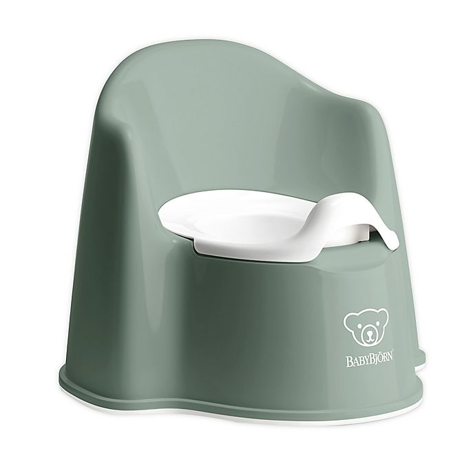 Alternate image 1 for BABYBJÖRN Potty Chair in Deep Green/White