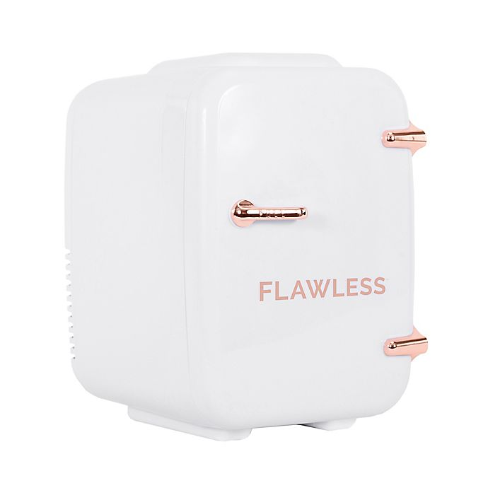 Alternate image 1 for Flawless® Mini Beauty and Skincare Refrigerator in White/Rose Gold