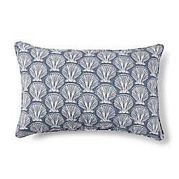 Destination Summer Seashell Indoor/Outdoor Oblong Throw Pillow in Grey