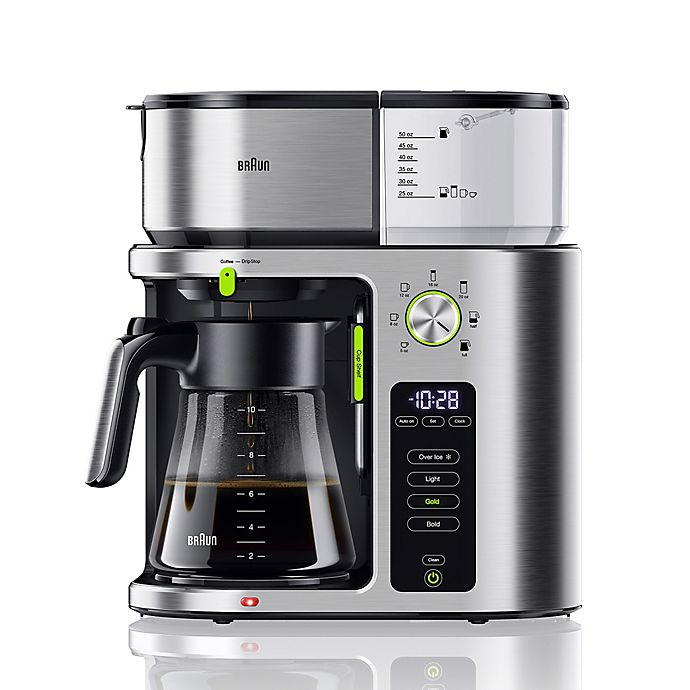 Alternate image 1 for Braun 10-Cup MultiServe Coffee Maker in Stainless Steel/Black