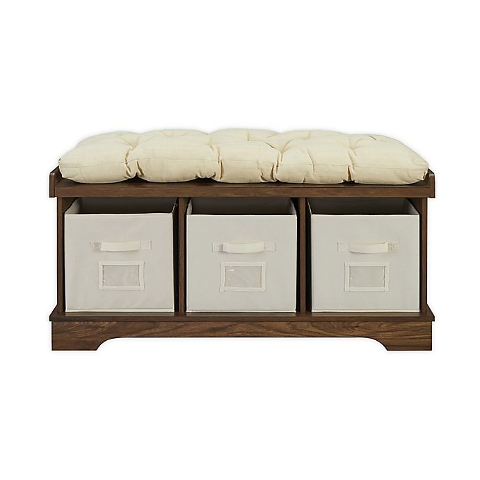 Alternate image 1 for Forest Gate™ Entryway Storage Bench with Totes