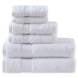 Madison Park Signature Luxor Egyptian Cotton Towel Set in White (Set of 6)