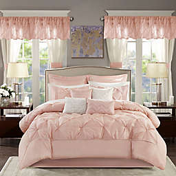 Madison Park® Essentials Joella 24-Piece King Comforter Set in Blush