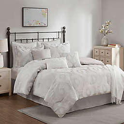 Emme 10-Piece Queen Comforter Set in Stone