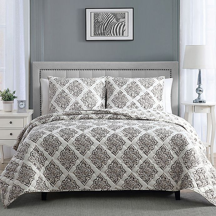 Alternate image 1 for Therapedic® Weighted 3-Piece Reversible Quilt Set