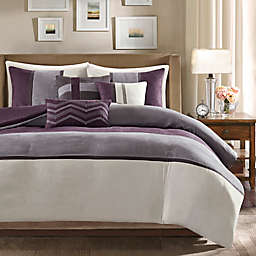 Madison Park Palisades Reversible Full/Queen Duvet Cover Set in Purple