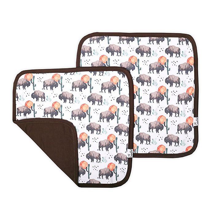 Alternate image 1 for Copper Pearl Bison Security Blankets (Set of 2)