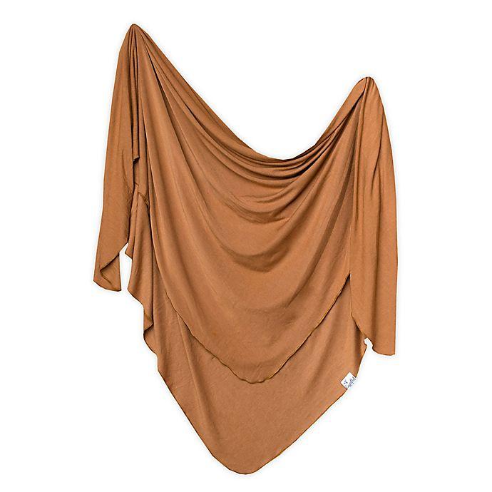 Alternate image 1 for Copper Pearl™ Camel Knit Swaddle Blanket