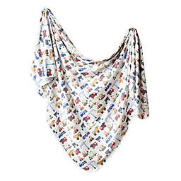 Copper Pearl™ Diesel Knit Swaddle Blanket in White