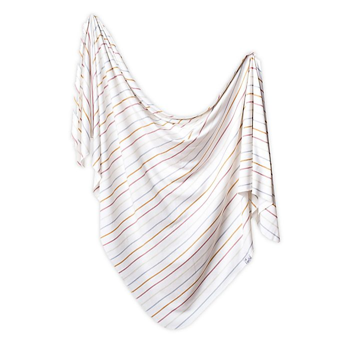 Alternate image 1 for Copper Pearl™ Piper Knit Swaddle Blanket in White