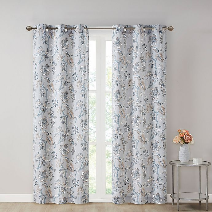 Alternate image 1 for SALT® Gabriella Grommet Light Filtering Window Curtain Panels (Set of 2)