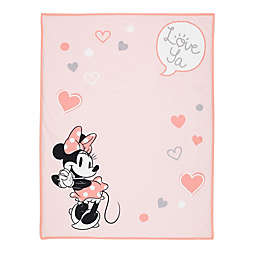 Disney® Minnie Mouse Photo Op Receiving Blanket in Pink