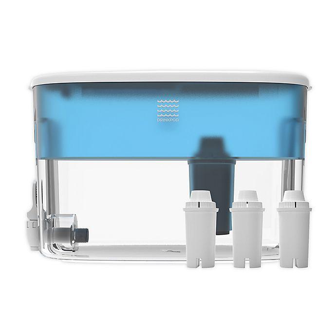 Alternate image 1 for Drinkpod® 2.4-Gallon Countertop Alkaline Water Dispenser in Blue
