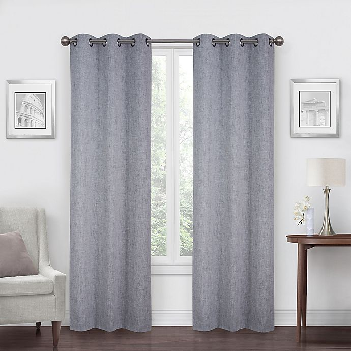 Alternate image 1 for SALT™ Robinson 2-Pack Grommet 100% Blackout Window Curtain Panels