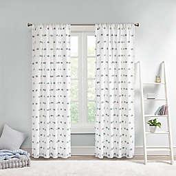 Intelligent Design Sophie 63-Inch Pom Pom Embellished Curtain Panel in Dusty Blue (Single)