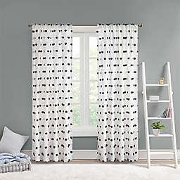 Intelligent Design Sophie 63-Inch Pom Pom Embellished Window Curtain Panel in Black (Single)