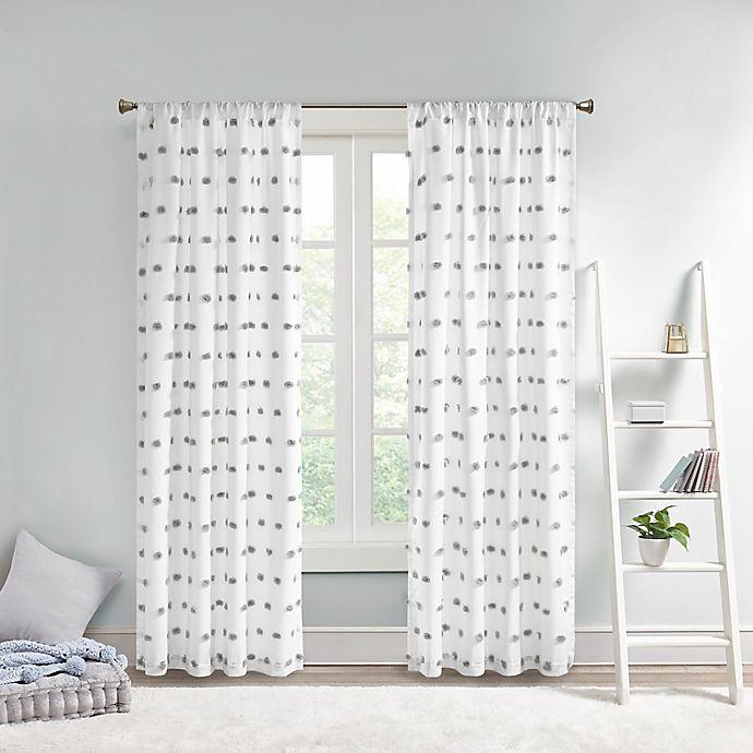 Alternate image 1 for Intelligent Design Sophie Pom Pom Embellished Window Curtain Panel (Single)
