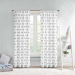 Intelligent Design Sophie 63-Inch Pom Pom Embellished Window Curtain Panel in Grey (Single)