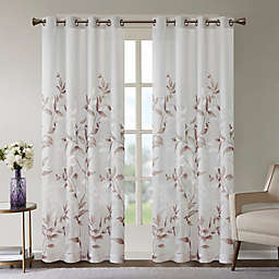 Madison Park Cecily Burnout Printed Window Panel in Mauve