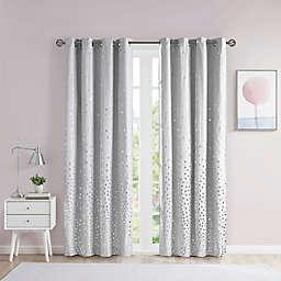 ID Zoey Printed Metallic Window Panel Grey/Silver (Single)