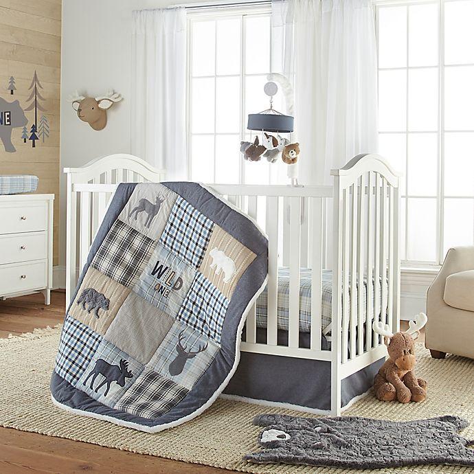 Levtex Baby Logan Nursery Bedding, Blue Deer Head Baby Bedding