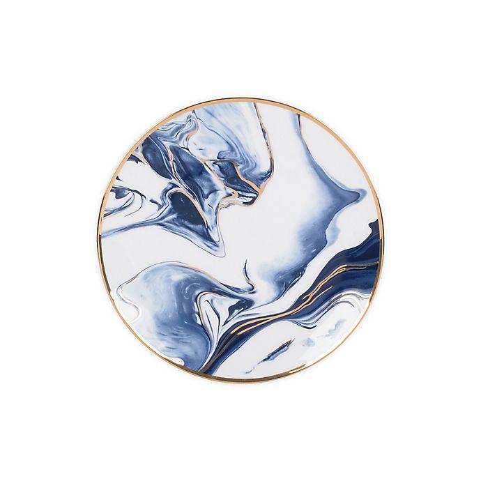 Alternate image 1 for Olivia & Oliver™ Harper Marble Gold Salad Plate in Blue