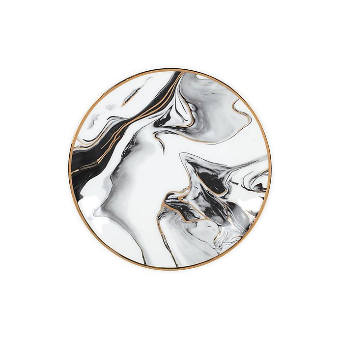 Alternate image 1 for Olivia & Oliver™ Harper Marble Gold Salad Plate in Grey