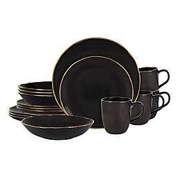 Olivia & Oliver™ Harper Slate Gold 16-Piece Dinnerware Set