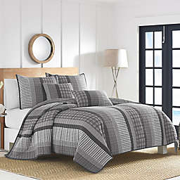 Nautica® Gulf Shores Quilt Set in Charcoal