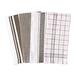 Artisanal Kitchen Supply® Flat Kitchen Towels in Green (Set of 4)