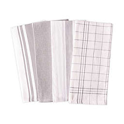 Artisanal Kitchen Supply® Flat Kitchen Towels in Grey (Set of 4)