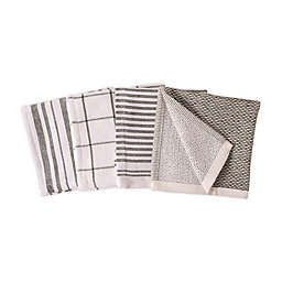 Artisanal Kitchen Supply® Dual Sided Dish Cloths in Green (Set of 4)