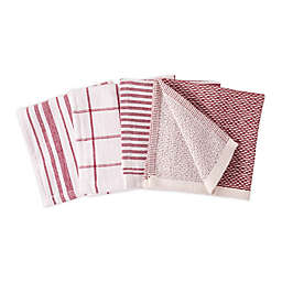 Artisanal Kitchen Supply® Dual Sided Dish Cloths in Red (Set of 4)