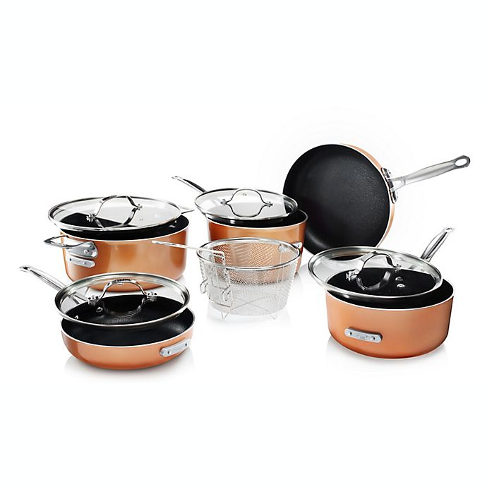 Alternate image 1 for Gotham™ Steel Stackmaster Nonstick Aluminum 10-Piece Cookware Set