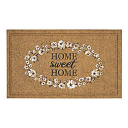 "Mohawk Home® 18"" x 30"" ""Home Sweet Home"" Door Mat in Tan/White"