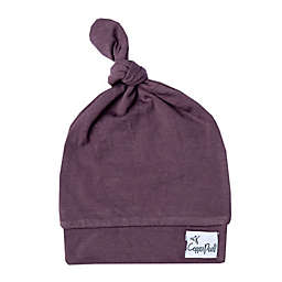 Copper Pearl™ Size 0-4M Top Knot Hat in Plum