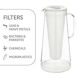 LifeStraw® Home 7-Cup BPA-Free Water Filter Pitcher in White