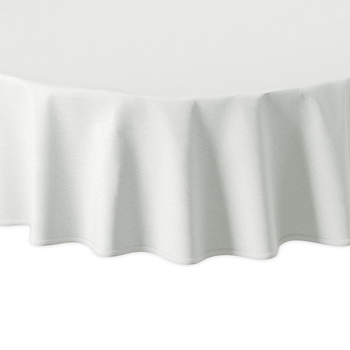 Alternate image 1 for Olivia & Oliver™ Madison 70-Inch Round Tablecloth in White