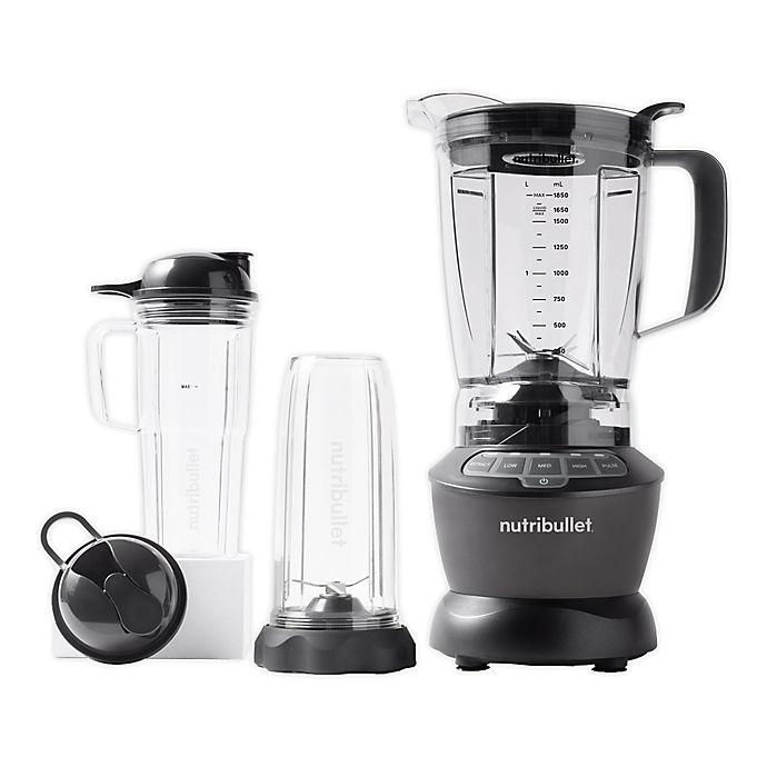 Alternate image 1 for NutriBullet® Blender Combo with Single Serve Cups in Grey
