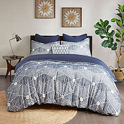INK+IVY Ellipse 3-Piece Reversible Duvet Cover Set