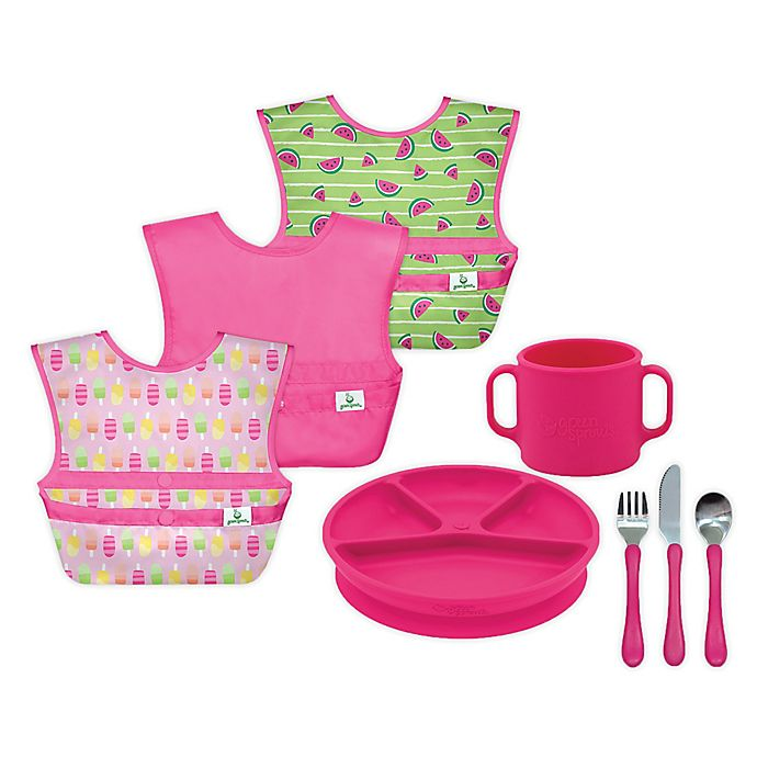 Alternate image 1 for green sprouts® 8-Piece Mealtime Set