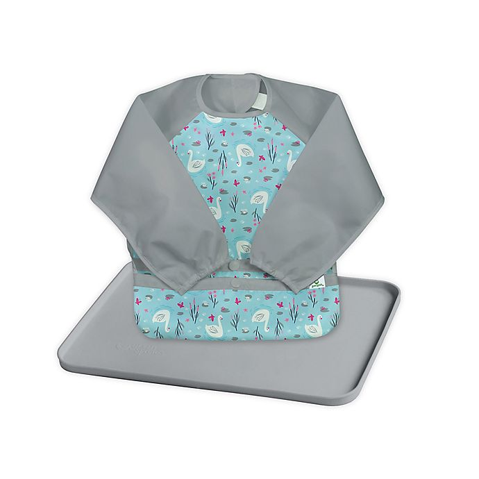 Alternate image 1 for green sprouts® 2-Piece Long Sleeve Bib and Platemat Set