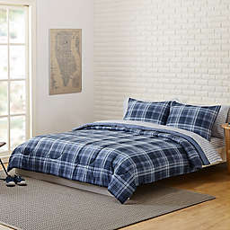 Denver 5-Piece Twin/Twin XL Comforter Set in Blue