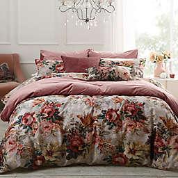 MM Linen Vintage Floral 3-Piece Queen Duvet Cover Set in Blush