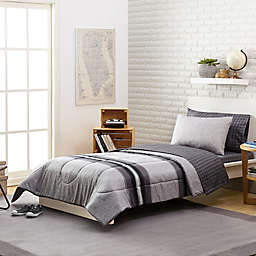 Stripe 7-Piece Reversible Comforter Set