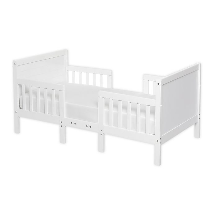 Alternate image 1 for Dream On Me Hudson 3-in-1 Convertible Toddler Bed in White