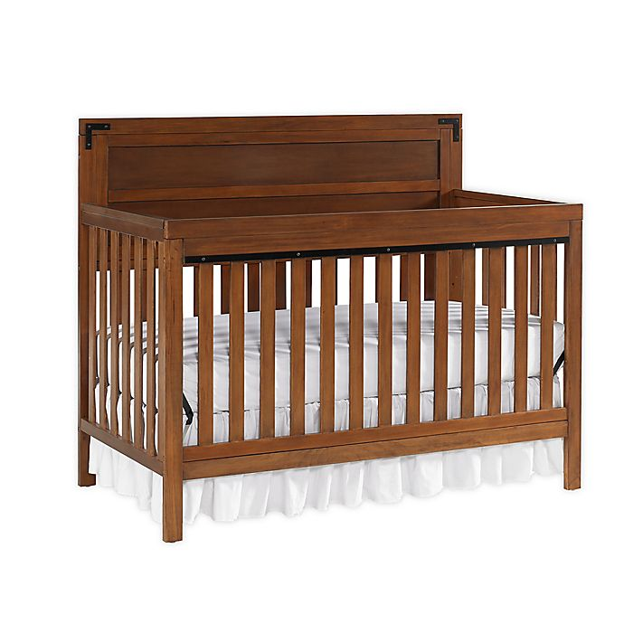 Alternate image 1 for fisher-price® Paxton 4-in-1 Convertible Crib in Rustic Brown