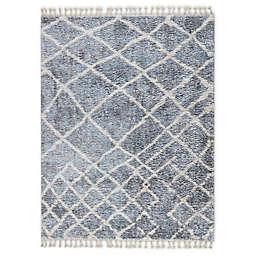 Madison Park Bolton Vigo Moroccan Shag Area Rug in Grey/Cream