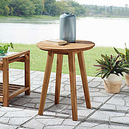 Forest Gate™ Patio Wood Side Table in Brown